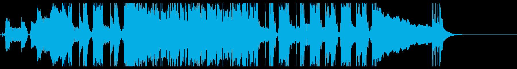 アクセントの利いたロック系インスト曲の再生済みの波形