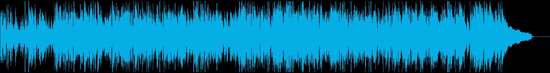 テンポ早めのジャズ、明るいスイング感の再生済みの波形
