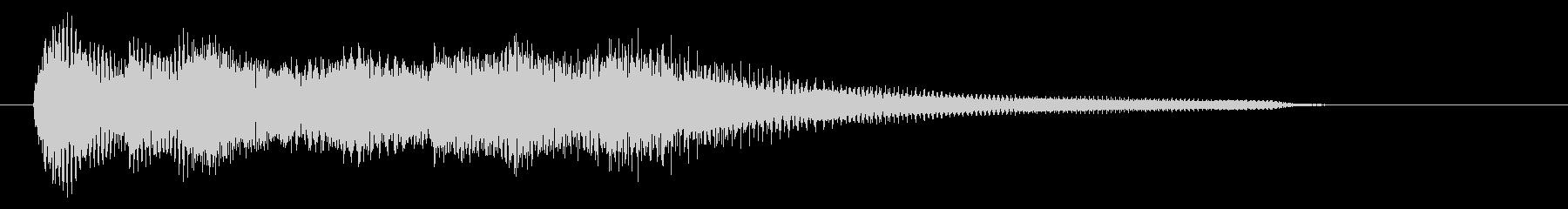 爽やか 爽快感 ピアノ ジングル 6秒の未再生の波形