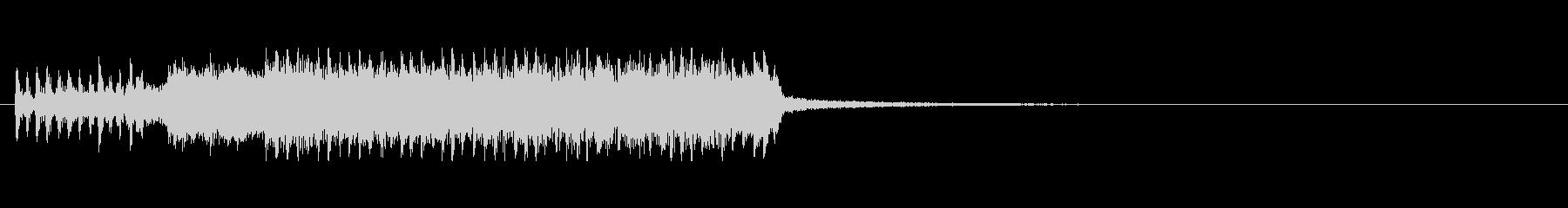 メタル風ギターのアイキャッチの未再生の波形