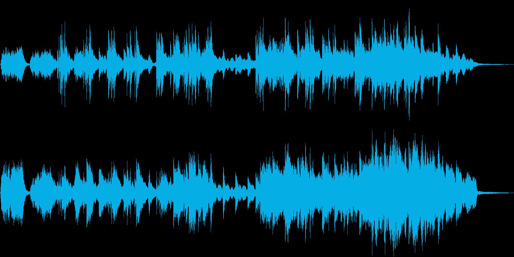 ピアノの優しい旋律の再生済みの波形