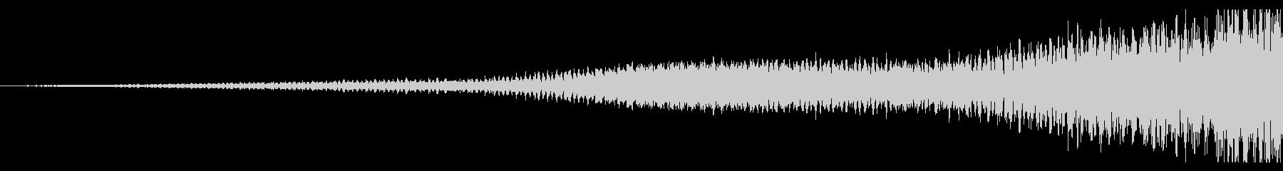 【迫る音】ピアノのリバース音(短め)の未再生の波形