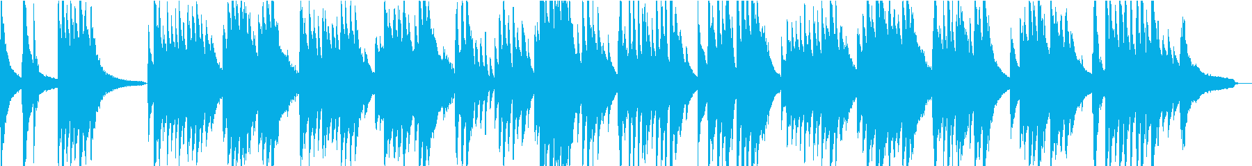 童謡「うれしいひなまつり」の哀愁ピアノの再生済みの波形