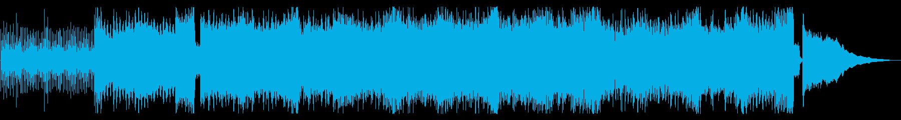 軽快でパワー感じるテクノポップの再生済みの波形
