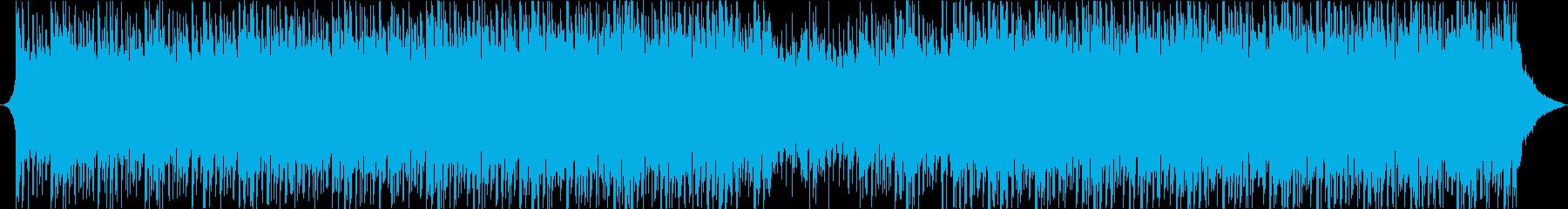 感フリーなアンビエントハウスミュージックの再生済みの波形