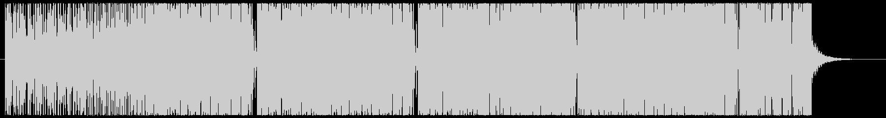 コミカルな四つ打ちの未再生の波形