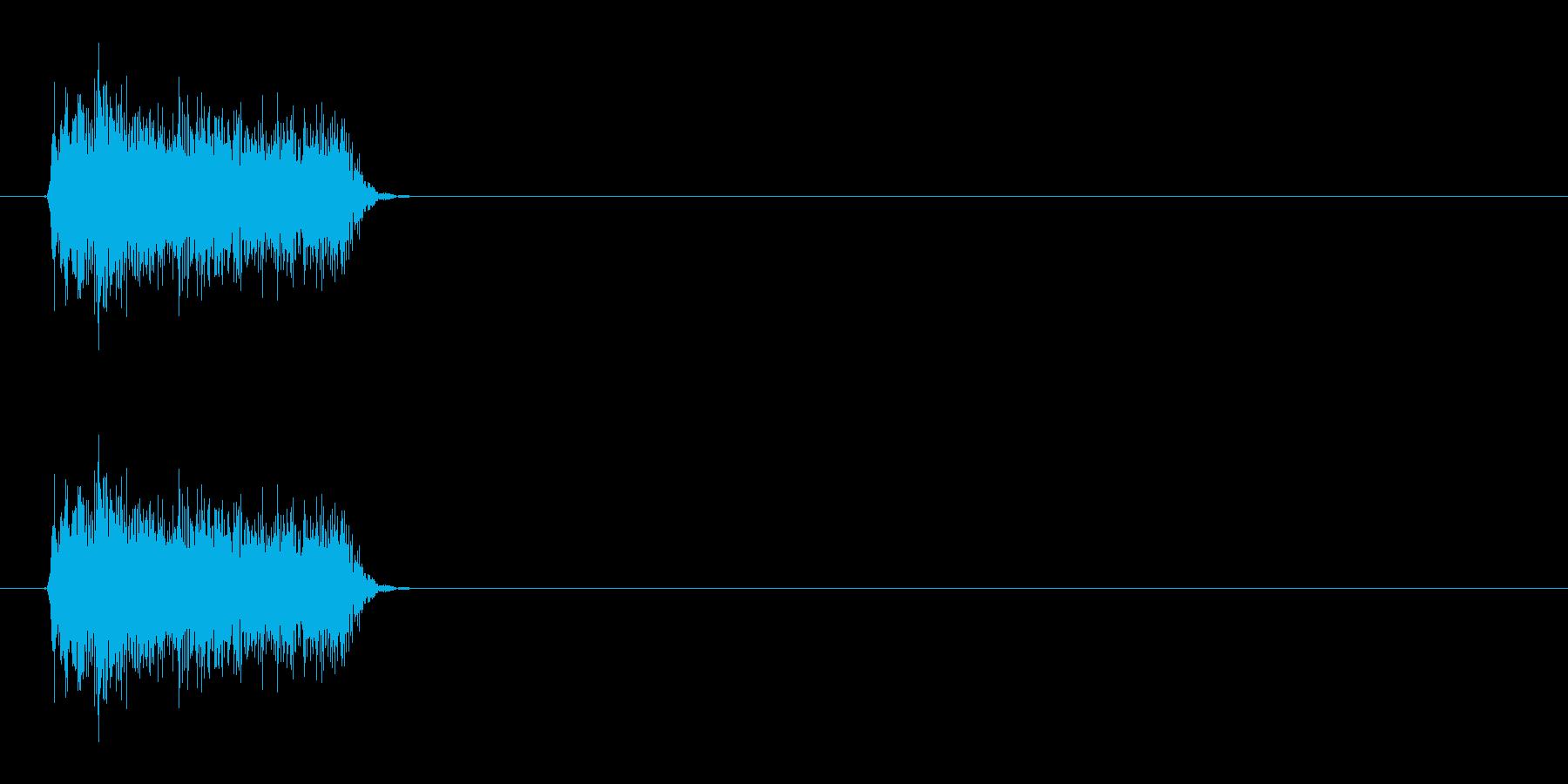 プシュッ(ファブリーズ的なものの音)の再生済みの波形