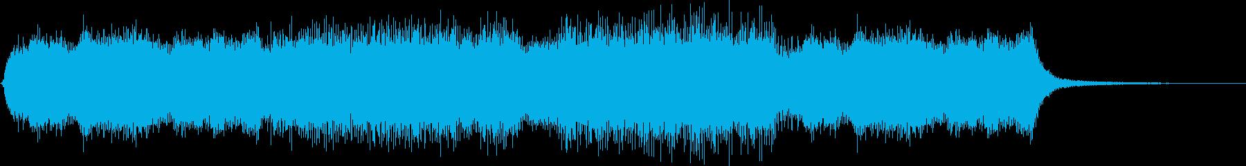 ガーン(バッドエンド、ゲームオーバー音)の再生済みの波形