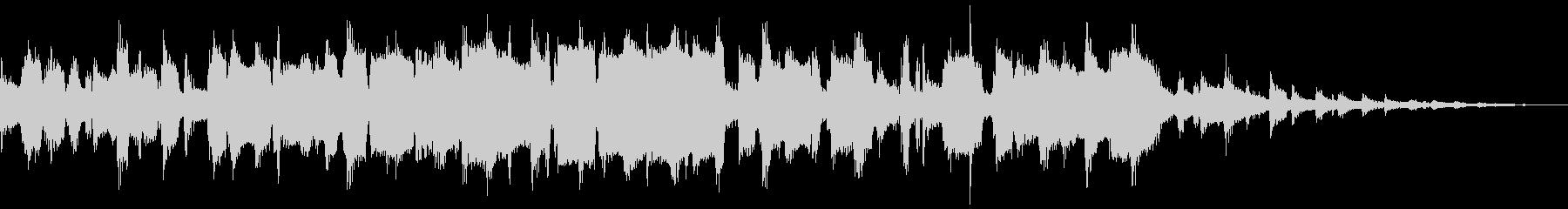 サックスによるジャズのブルースナンバーの未再生の波形