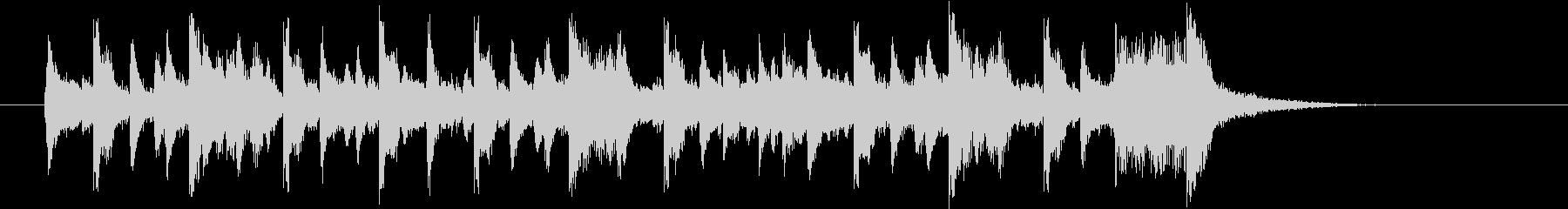 80年代フュージョン的な17秒ジングルの未再生の波形