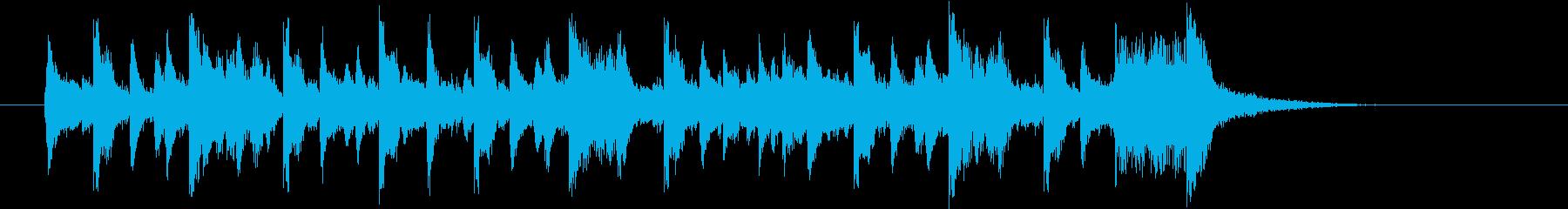 80年代フュージョン的な17秒ジングルの再生済みの波形