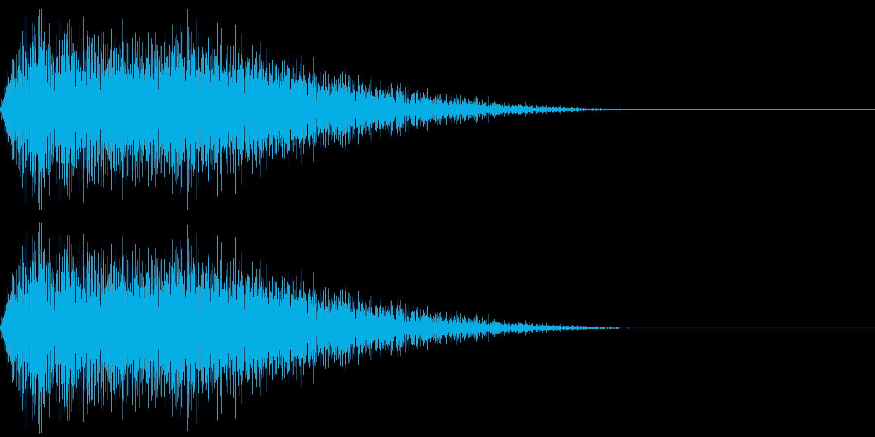 物が一瞬にして凍るような音/ ジュワ~の再生済みの波形
