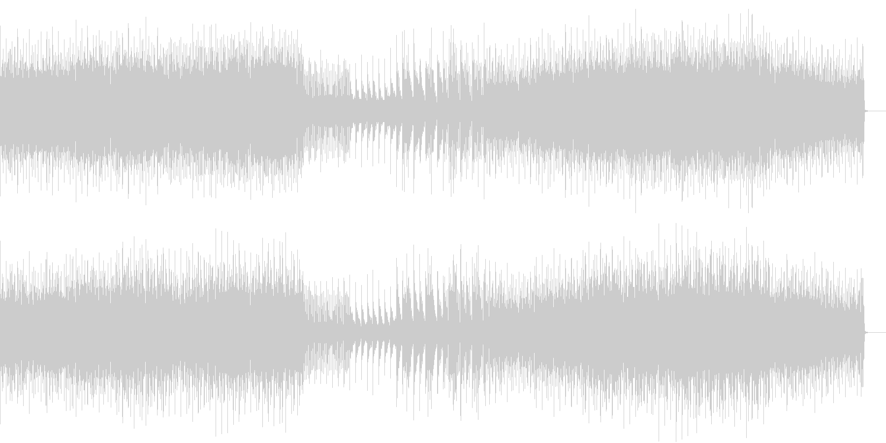 【バトル向き】疾走感のあるテクノロックの未再生の波形