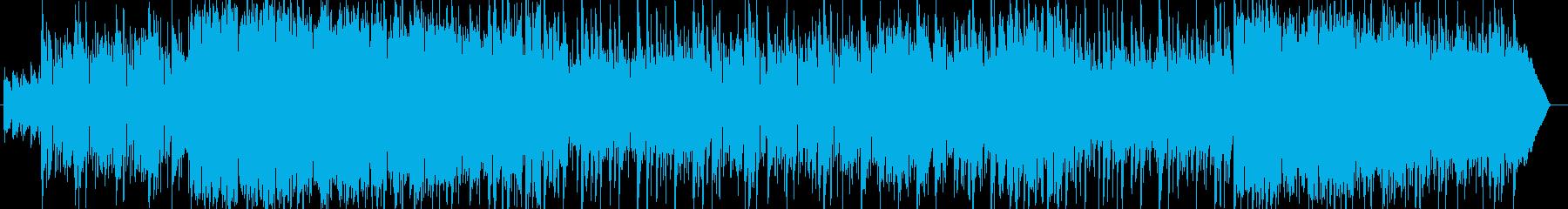 明るく心地よい軽快なポップミュージックの再生済みの波形