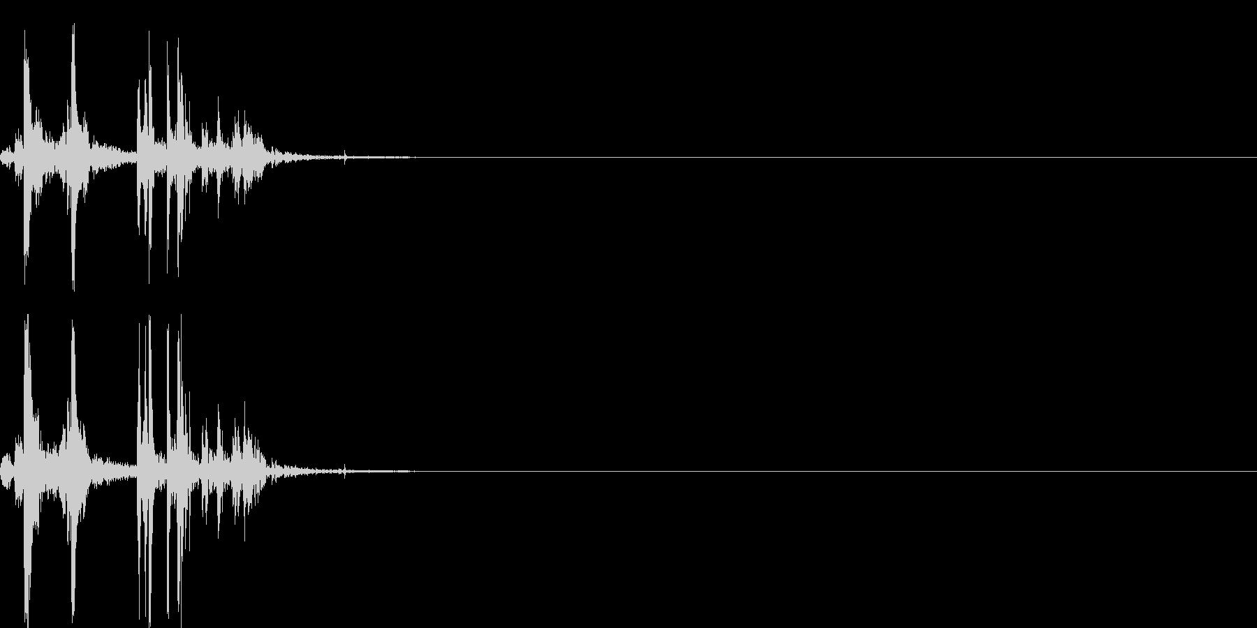 スナック菓子食べる音(ポテトチップ)01の未再生の波形