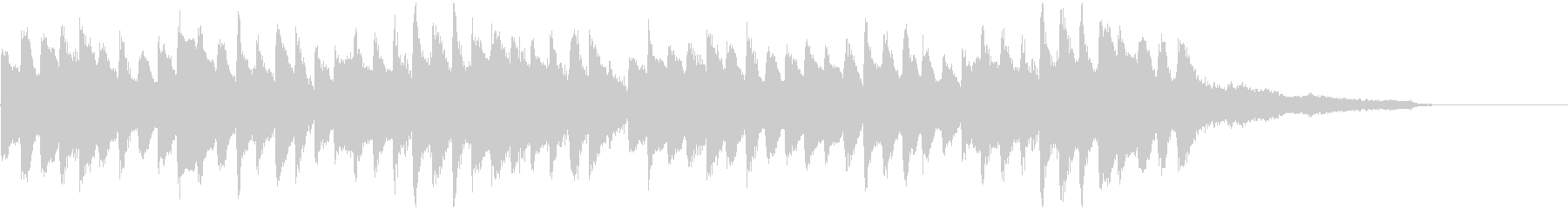 まったりとしたピアノメインのジングルの未再生の波形