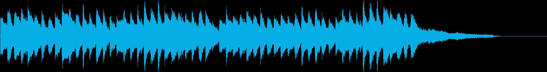まったりとしたピアノメインのジングルの再生済みの波形