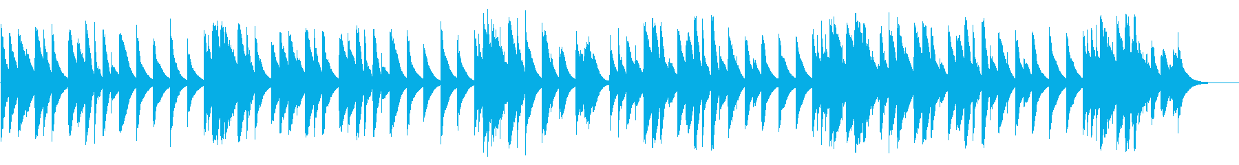 カエルの合唱 カード式オルゴールの再生済みの波形
