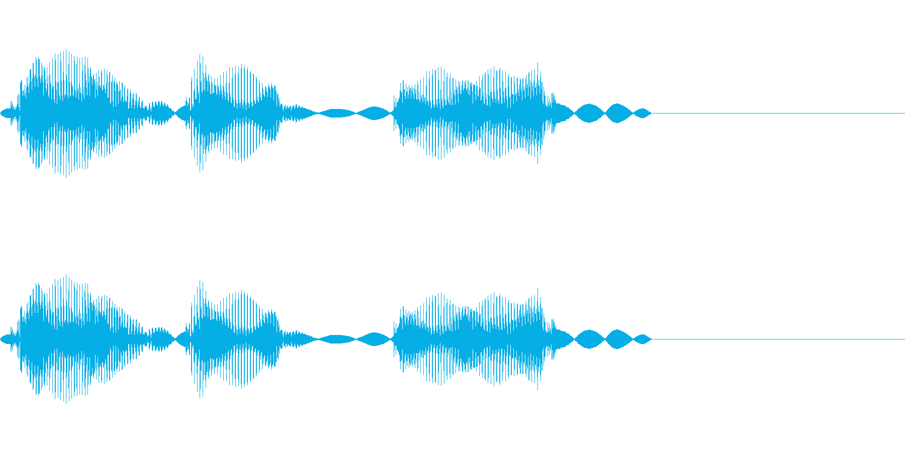 ありがとう❤︎かわいい2歳女の子の生声の再生済みの波形