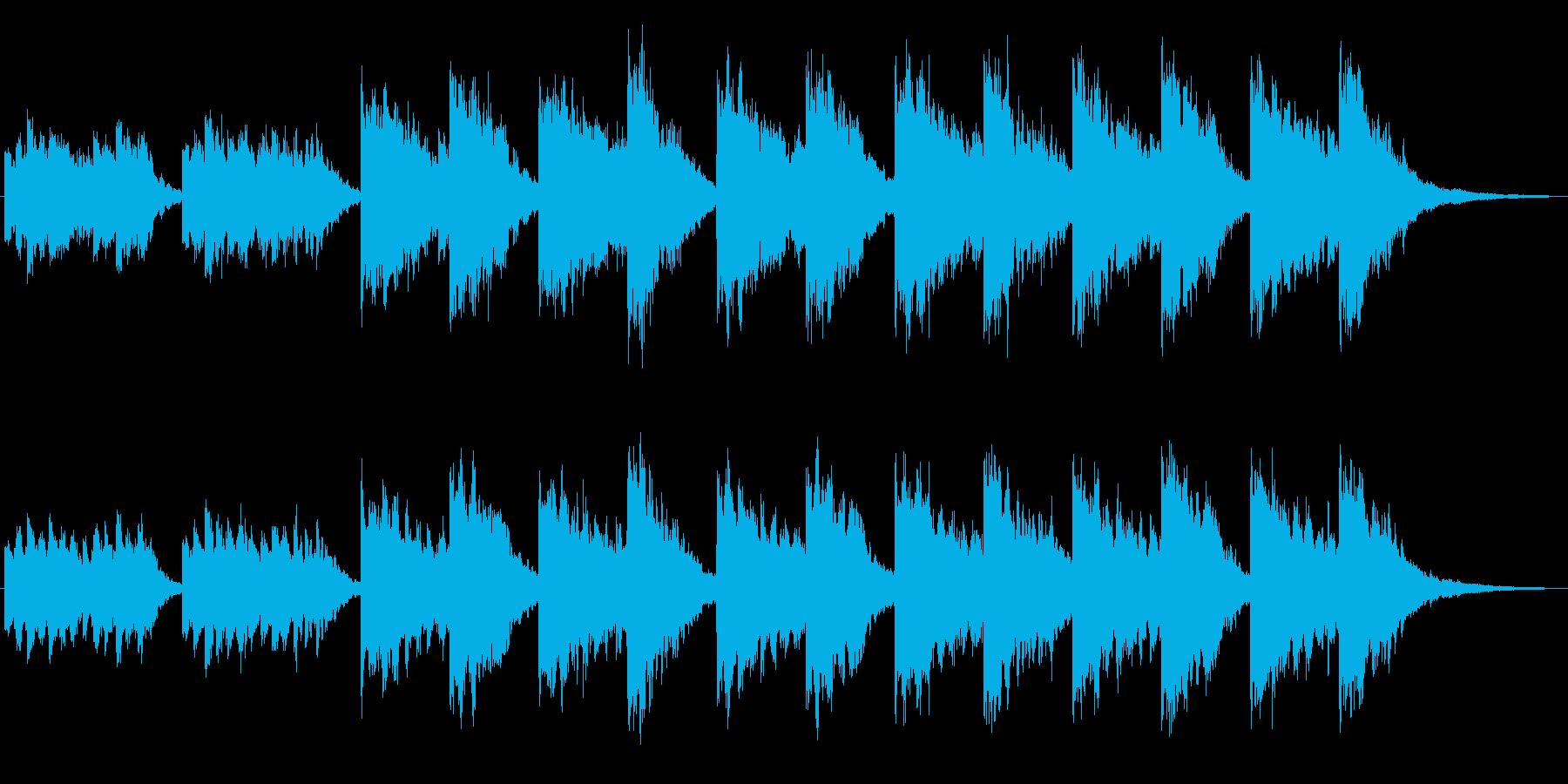 シンセによるキラキラしたジングル2の再生済みの波形