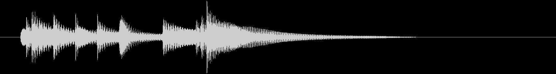 ナイロンギターの短いジングルの未再生の波形