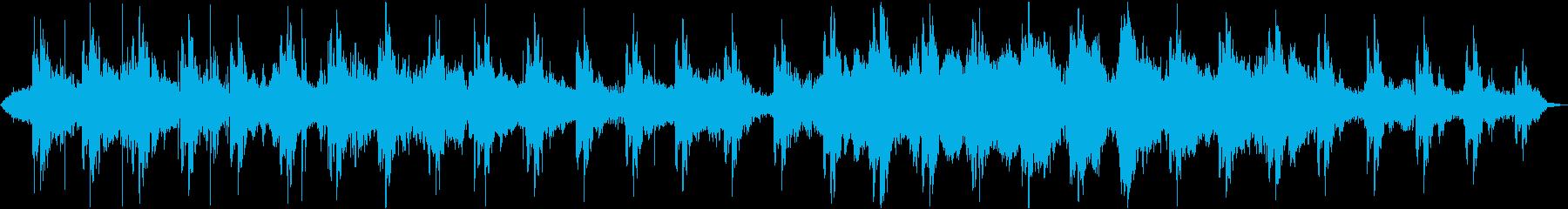 温かい音色のループとサウンドエフェクトの再生済みの波形