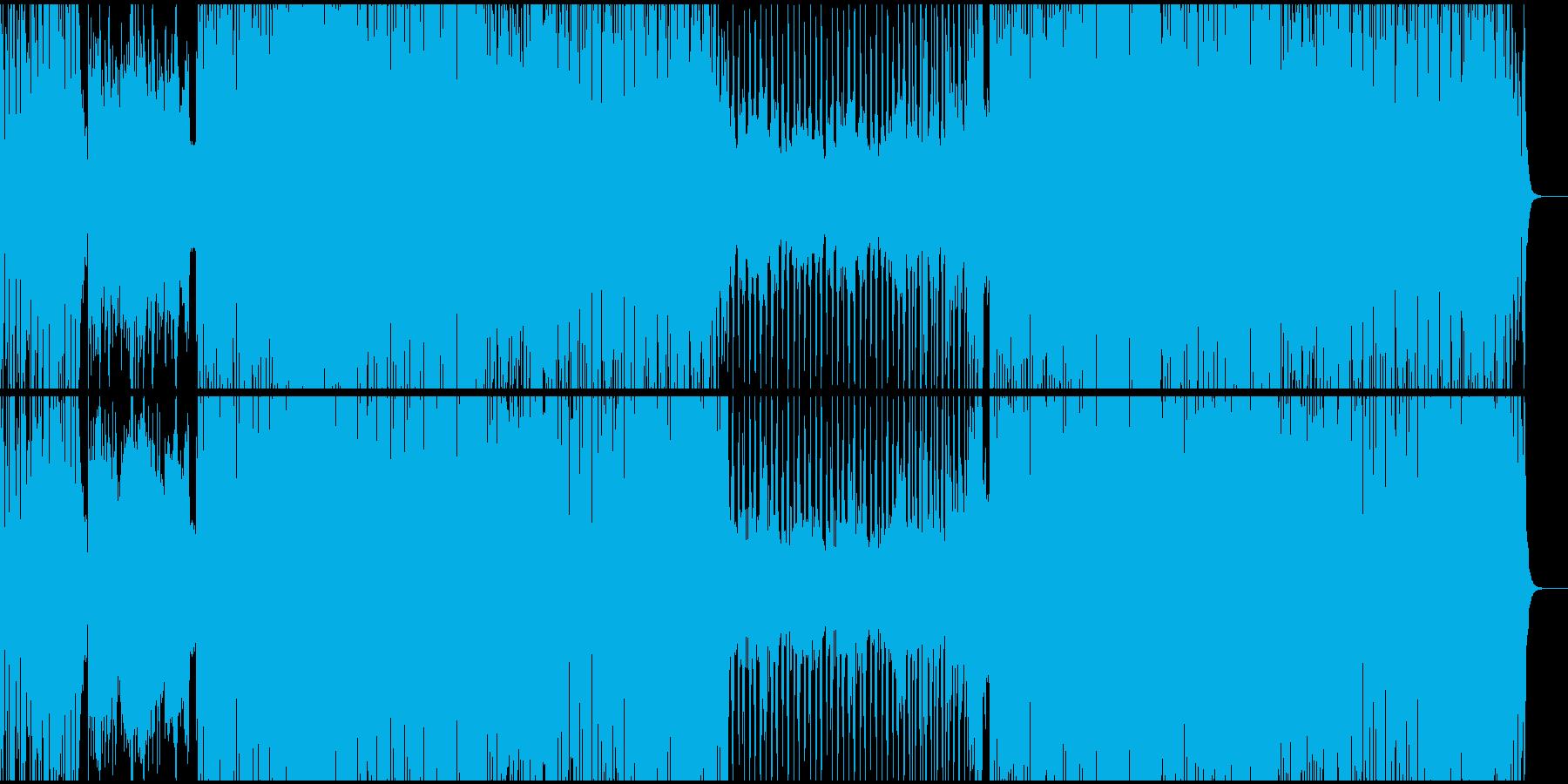 和楽器を使用したダンスミュージックの再生済みの波形