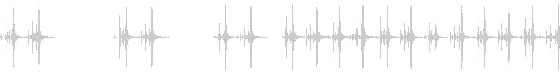 散弾銃、コックのクローズアップ、繰り返しの未再生の波形