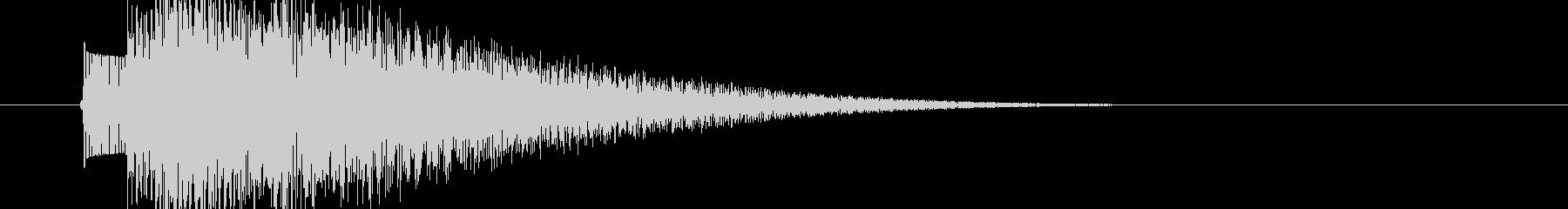 チャラン(昔のゲーム決定音ー低め)の未再生の波形