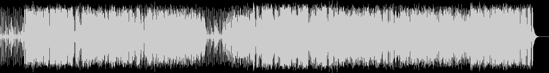 ピアノ・ベース・ドラム編成の舞曲風ジャズの未再生の波形