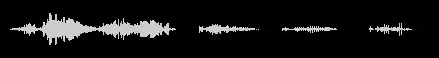 【日数・経過】3週間経過の未再生の波形