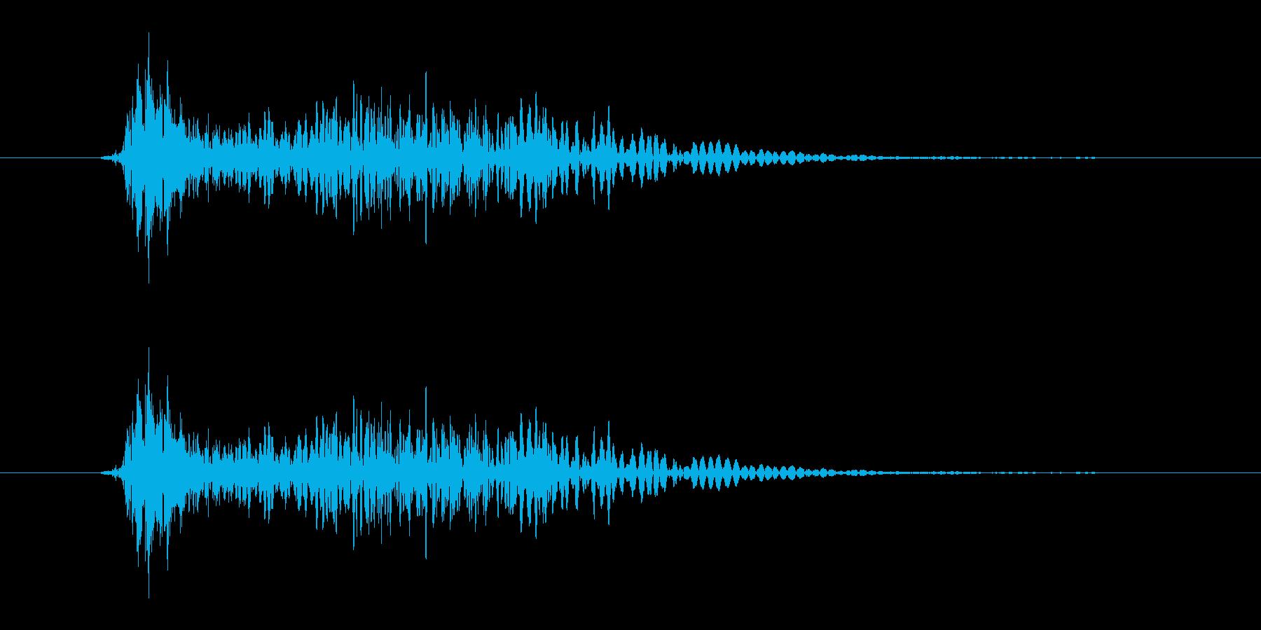 カモン(魔王のような声)の再生済みの波形