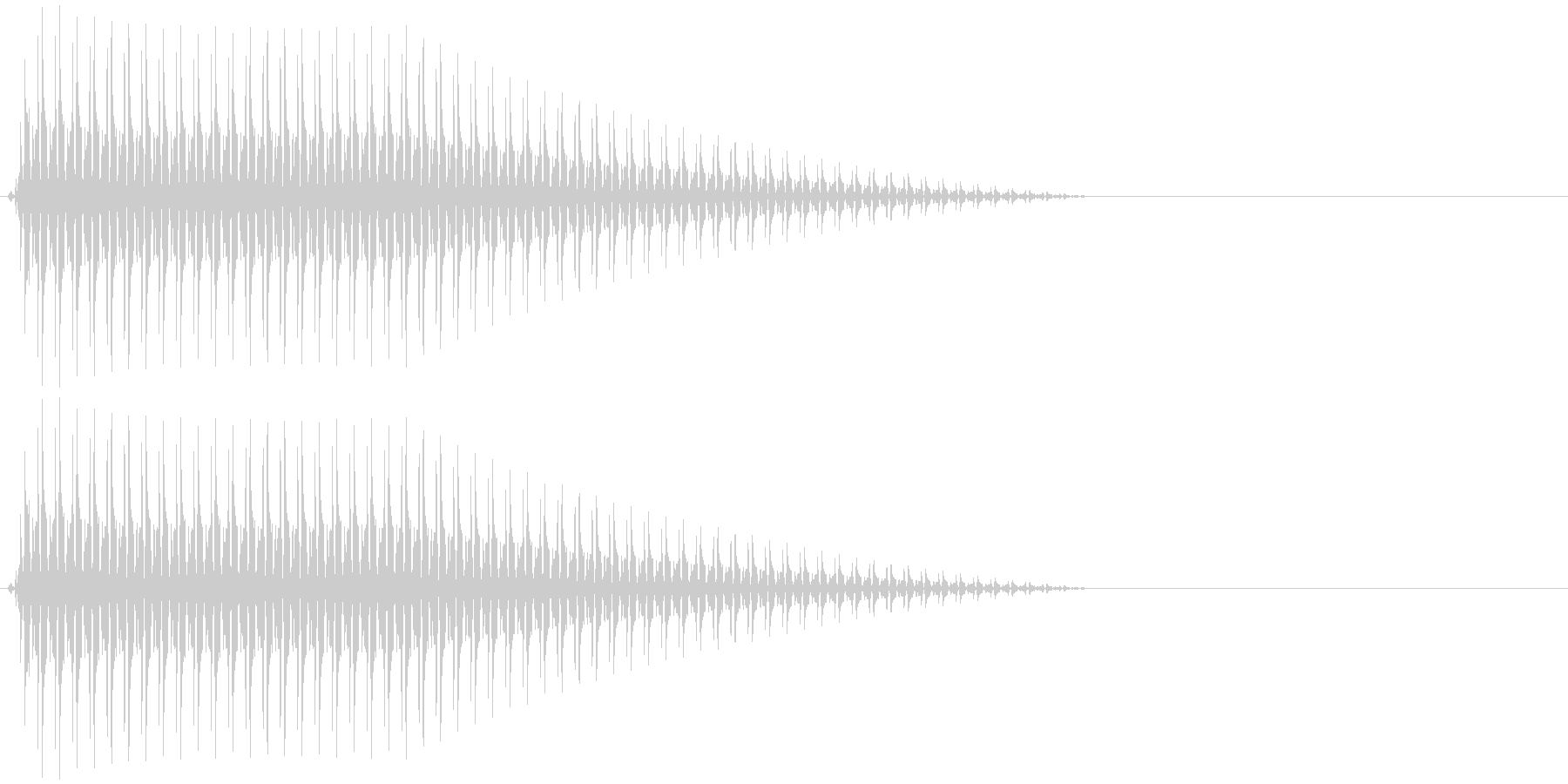 OctaveCom アプリ用タッチ音2の未再生の波形