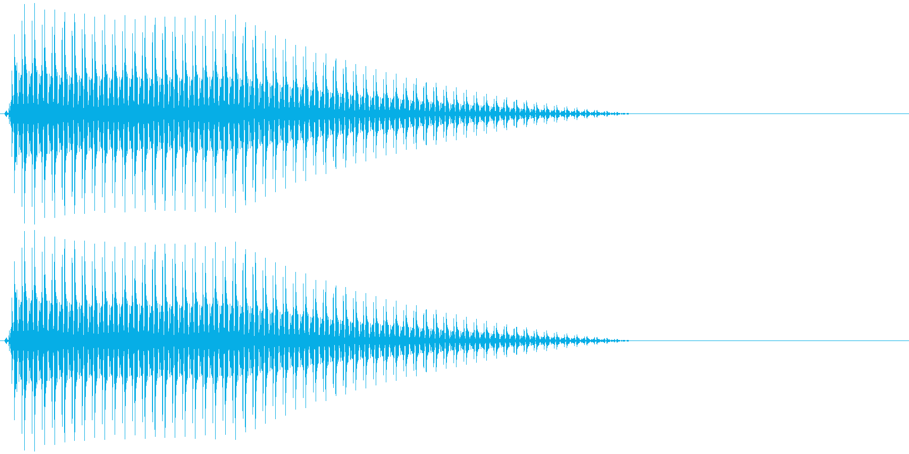 OctaveCom アプリ用タッチ音2の再生済みの波形
