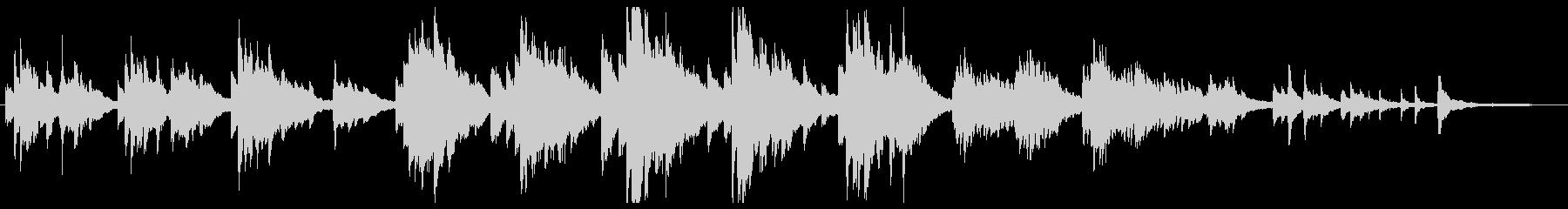 切ない静かピアノソロの未再生の波形