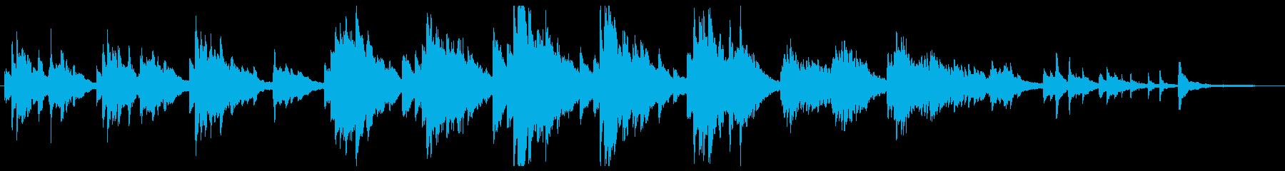 切ない静かピアノソロの再生済みの波形