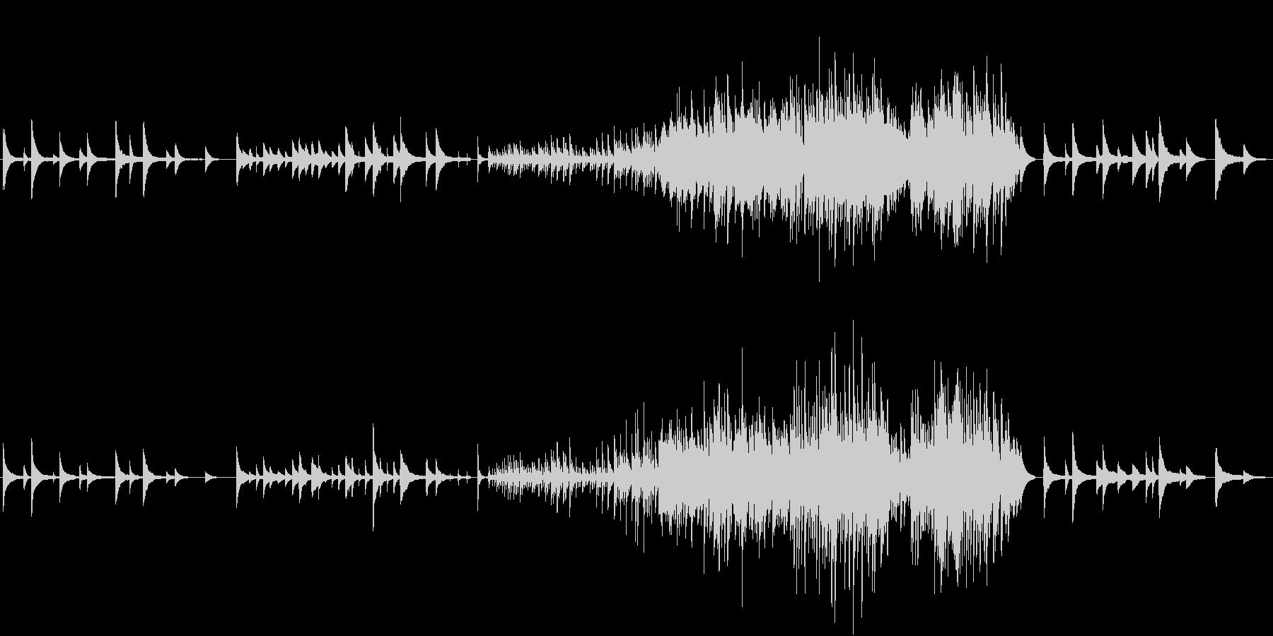 悲観的なピアノ曲の未再生の波形