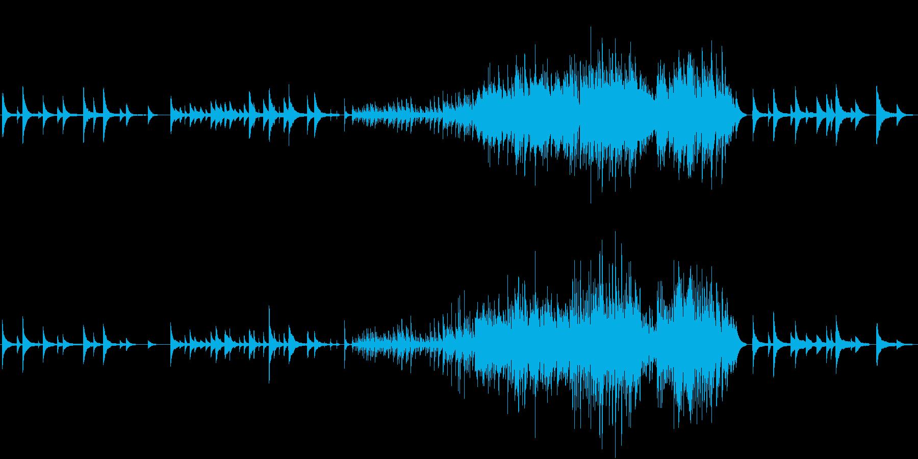 悲観的なピアノ曲の再生済みの波形