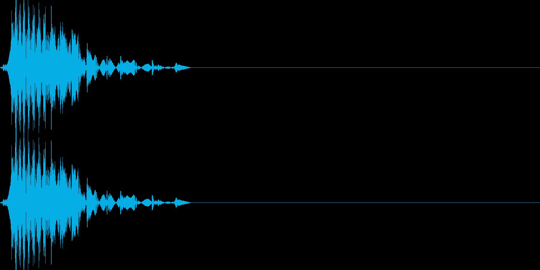攻撃ダメージを受けたときの効果音の再生済みの波形