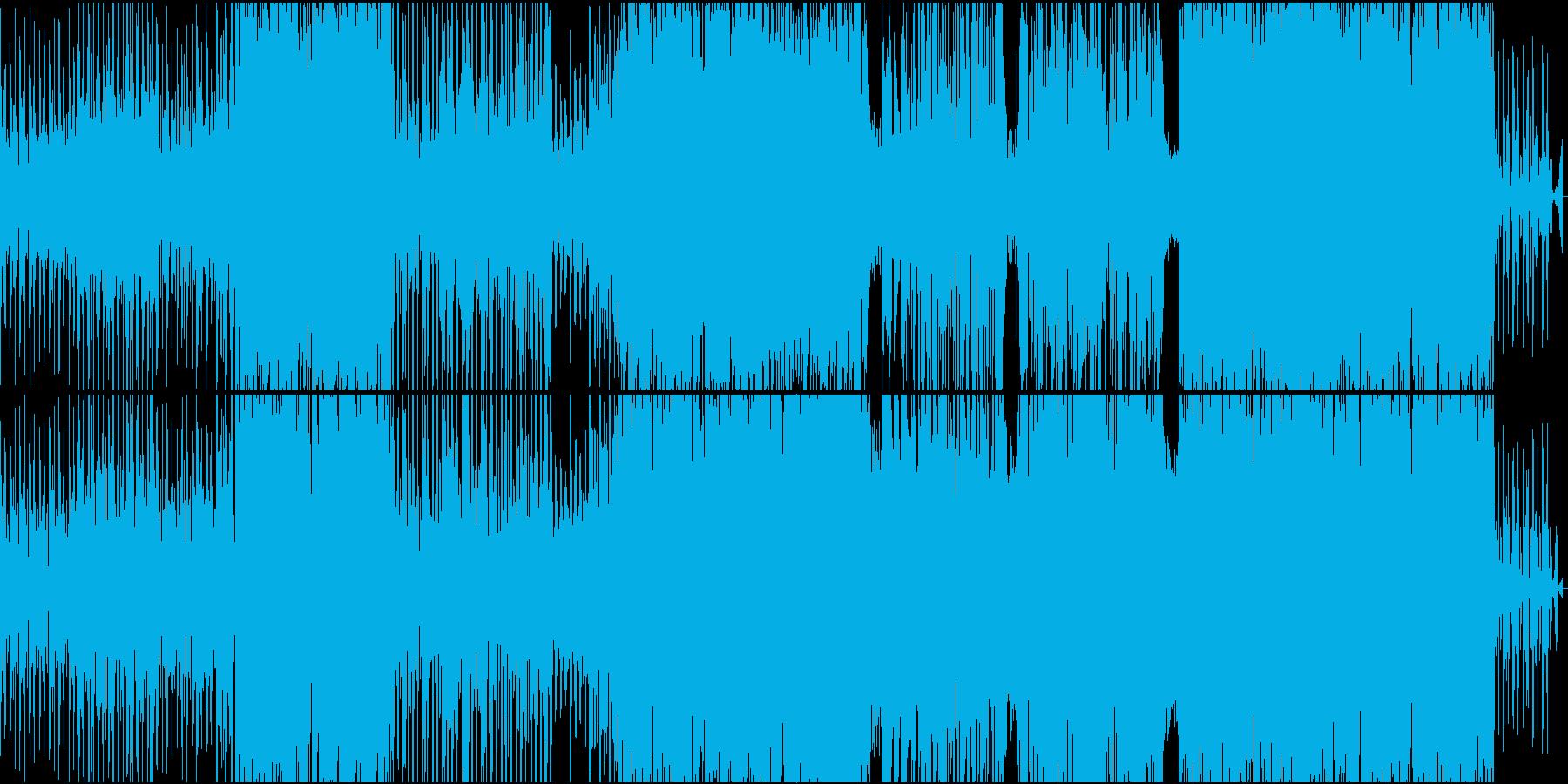 現代的レトロミュージックの再生済みの波形