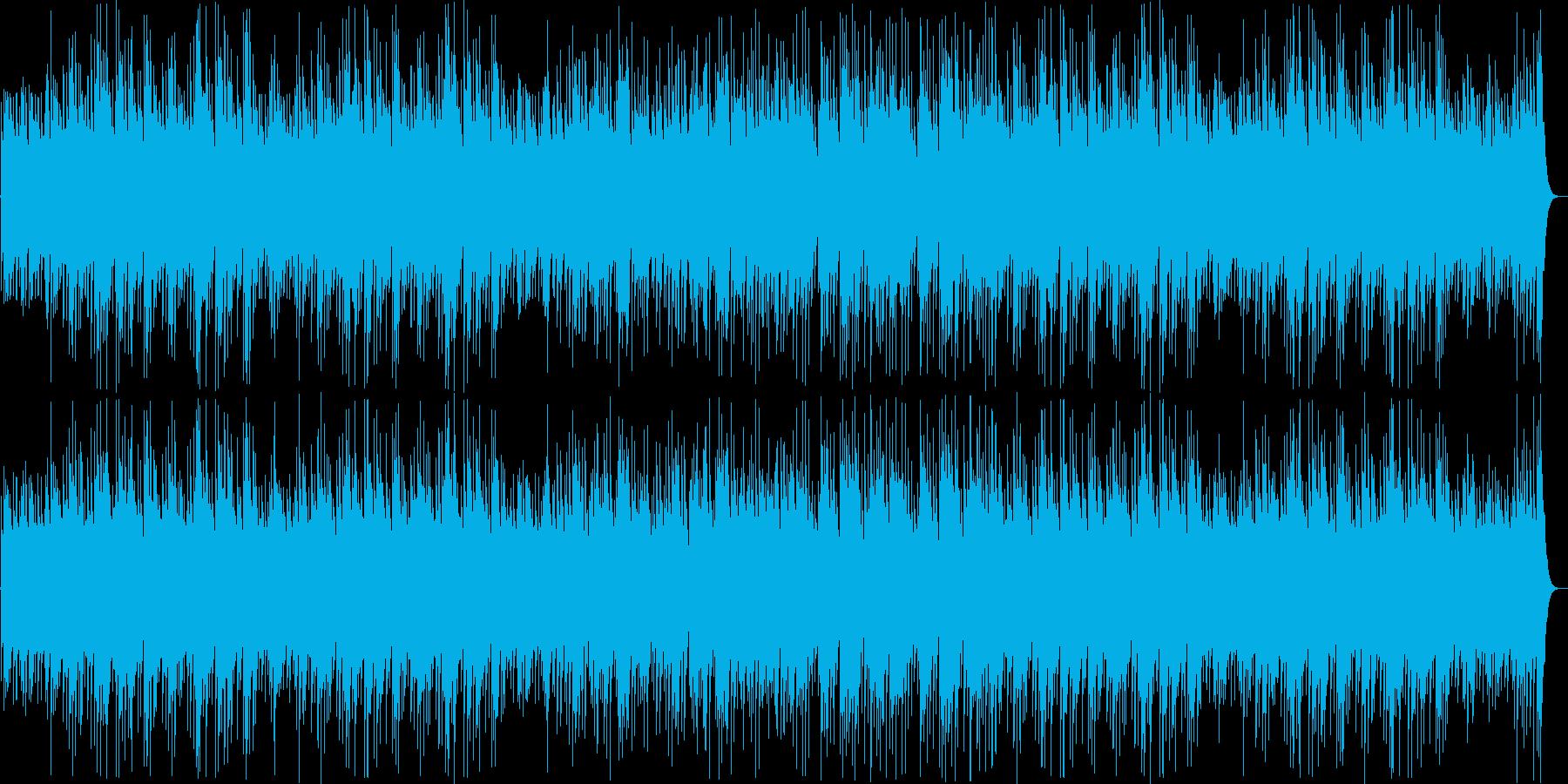 アジア風で落ち着きのある民族音楽の再生済みの波形