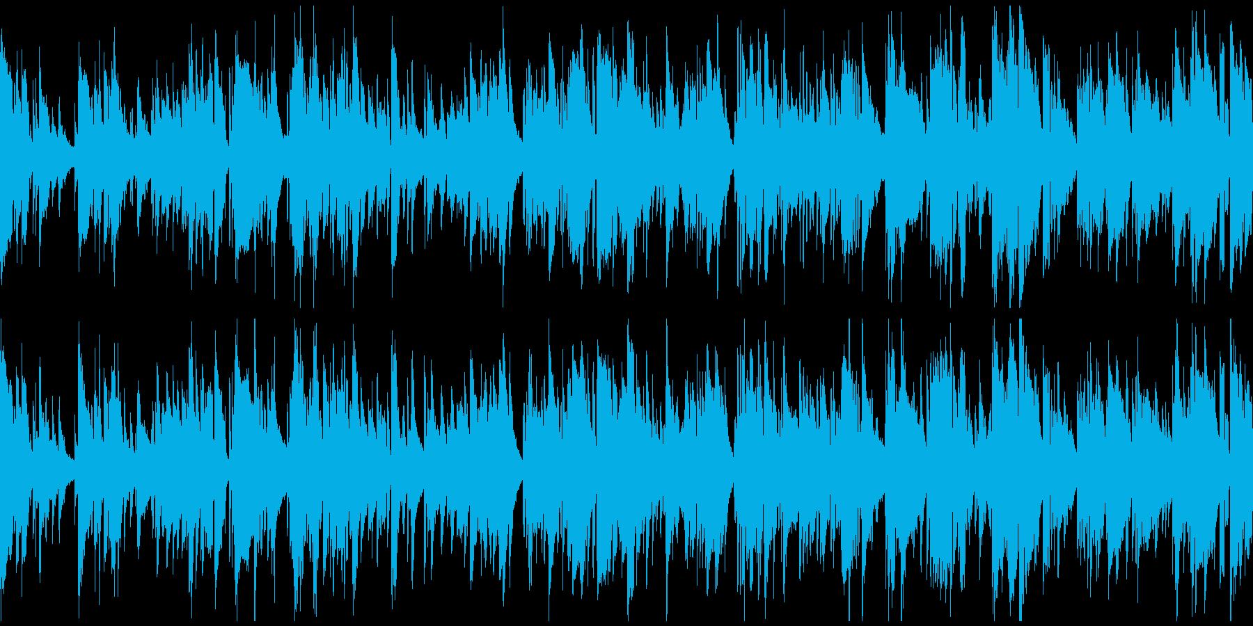 ラウンジやバーの雰囲気サックス※ループ版の再生済みの波形