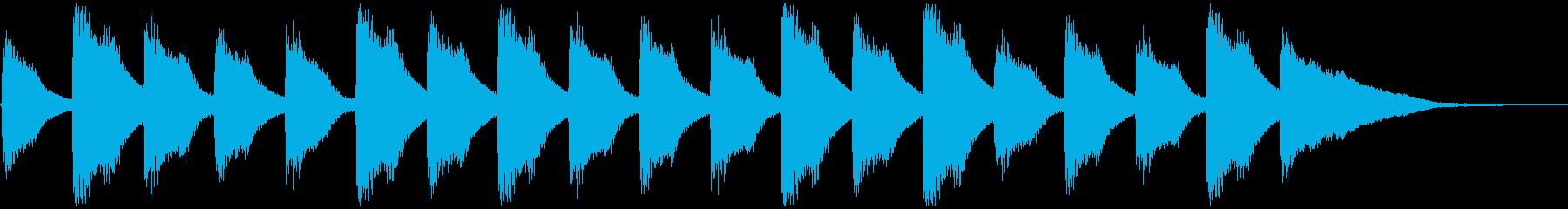 子供と爽やかピアノ、5秒CM、ver.Bの再生済みの波形