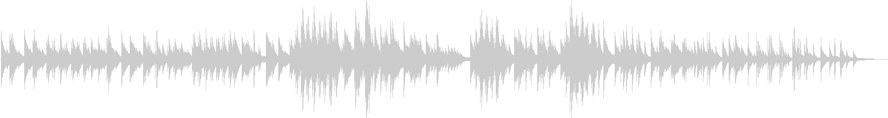 穏やかな印象のソロピアノのバラードですの未再生の波形