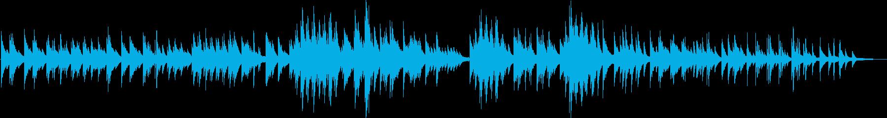 穏やかな印象のソロピアノのバラードですの再生済みの波形