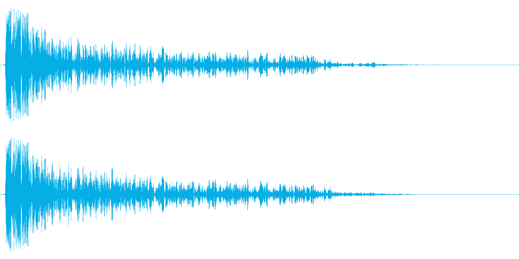 SFバズーカ砲の効果音、バズーカ砲、キ…の再生済みの波形