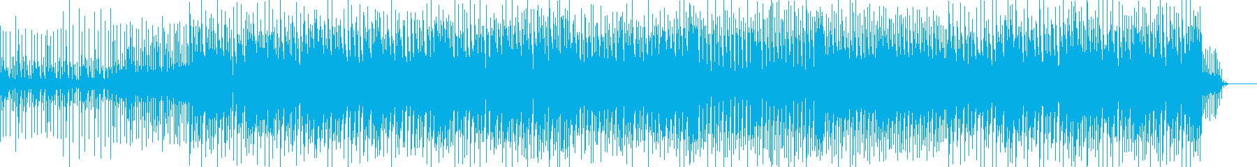 ほのぼのする可愛さと弾けるような感覚の曲の再生済みの波形
