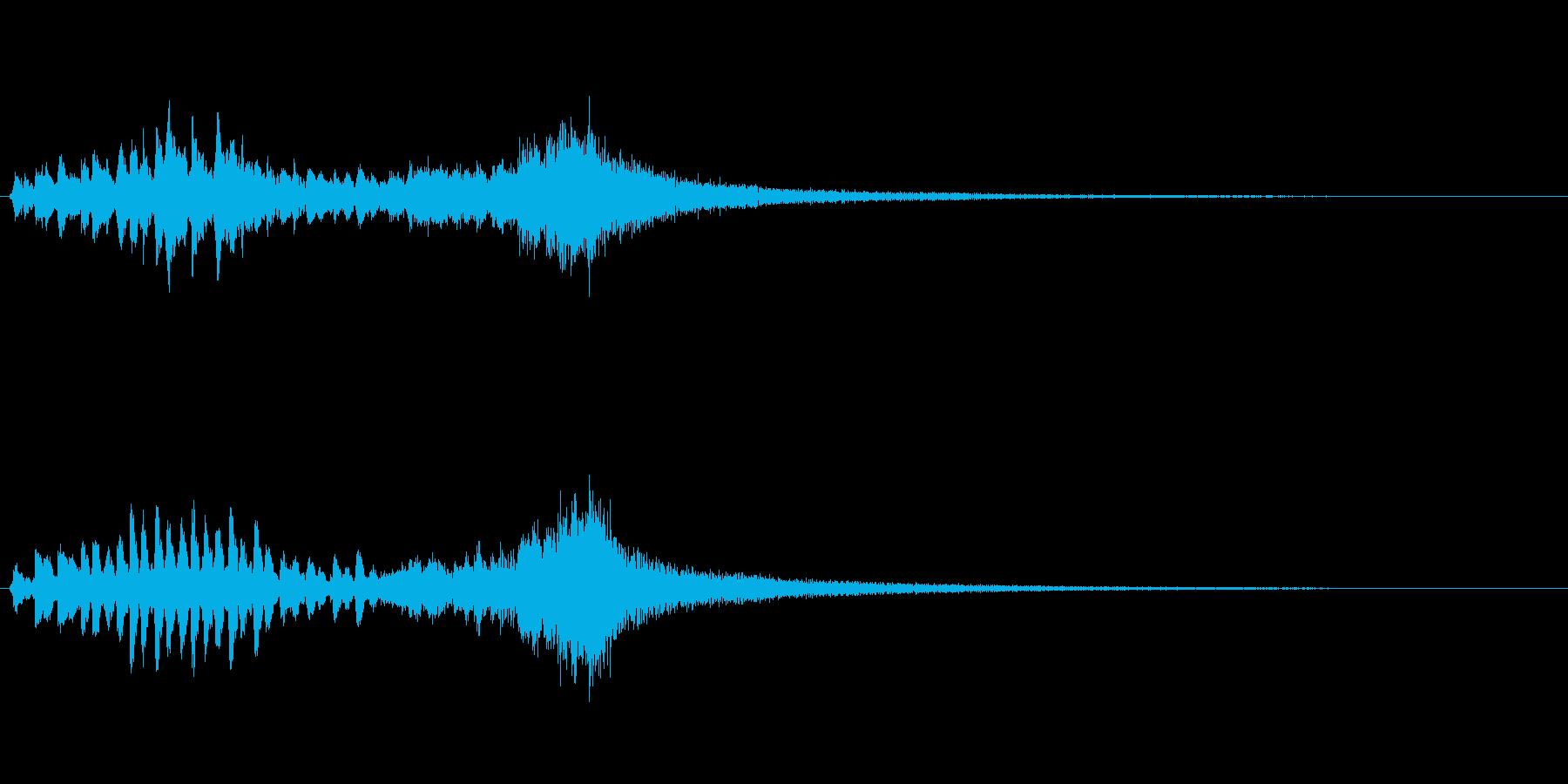 優雅な和風サウンド 琴のトレモロの再生済みの波形