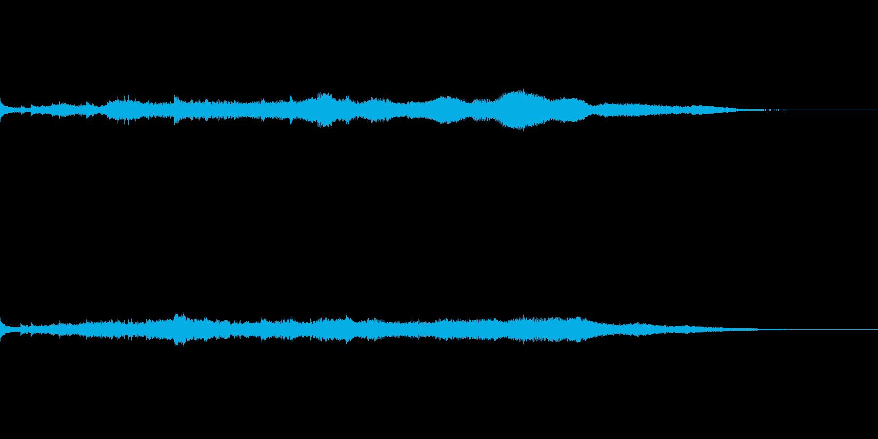 【ヒーリング】自然癒し系、水の音×アコギの再生済みの波形