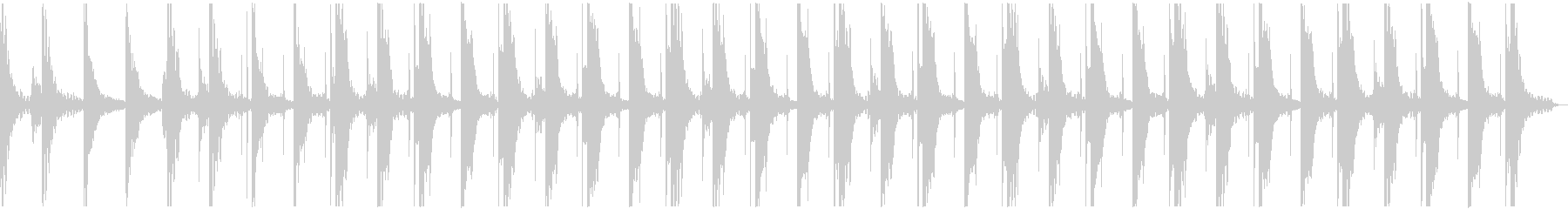 神秘的 ピアノ アンビエントの未再生の波形